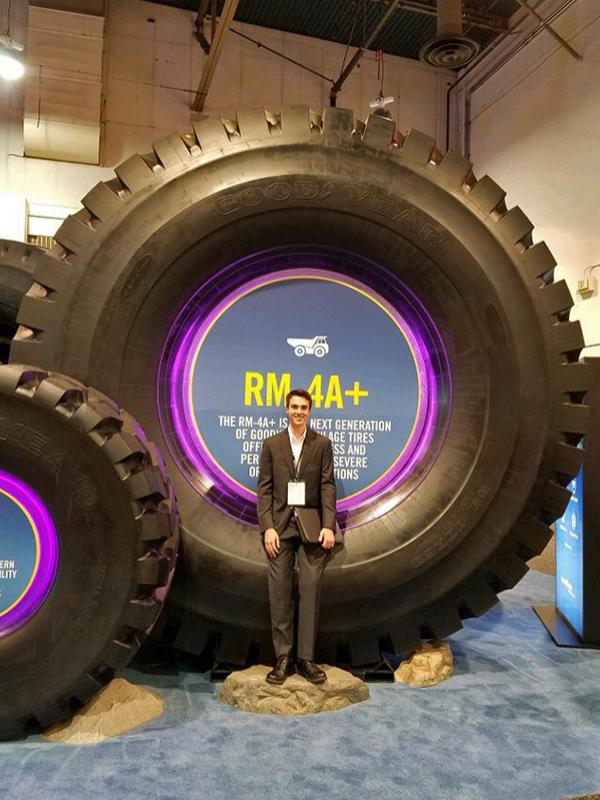 Millennium Scholar Brian Swab, a first-year mining engineering student, recently attending MINExpo in Las Vegas.