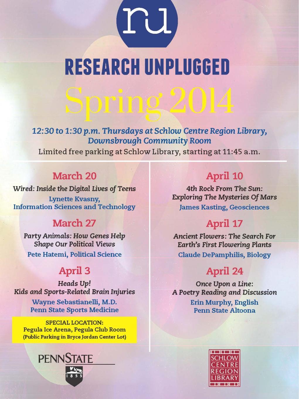 RU Spring 2014 poster