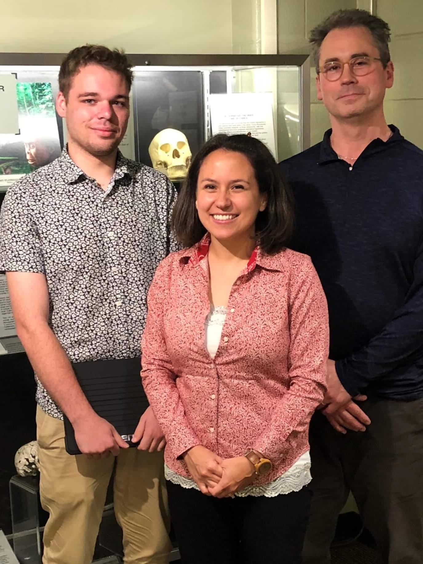 Nick McLean, Jesse Driver, and Mark Shriver created a new AR app to be used in Shriver's ANTH 021 lab