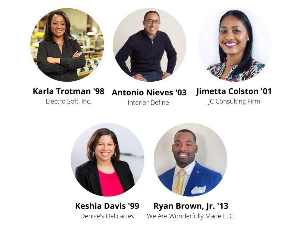 Photos of five Penn State alumni