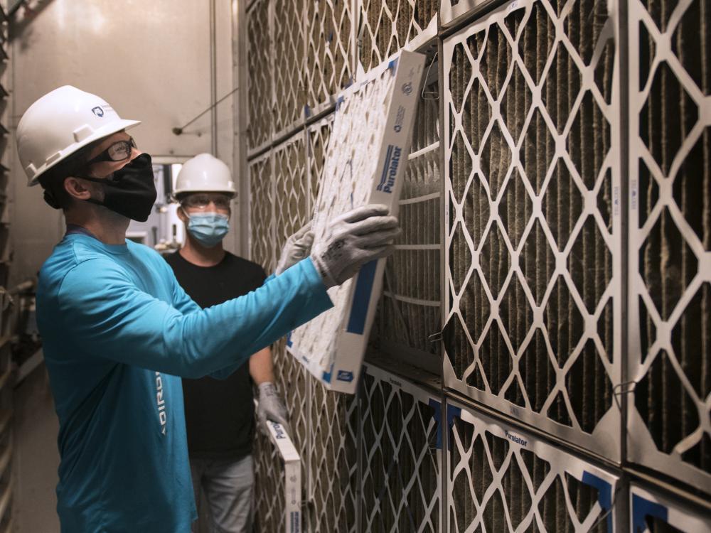 OPP replacing air filters