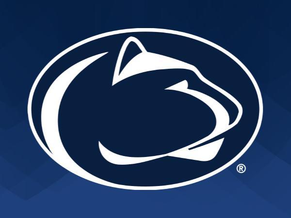 Penn State Athletics Logo on blue background