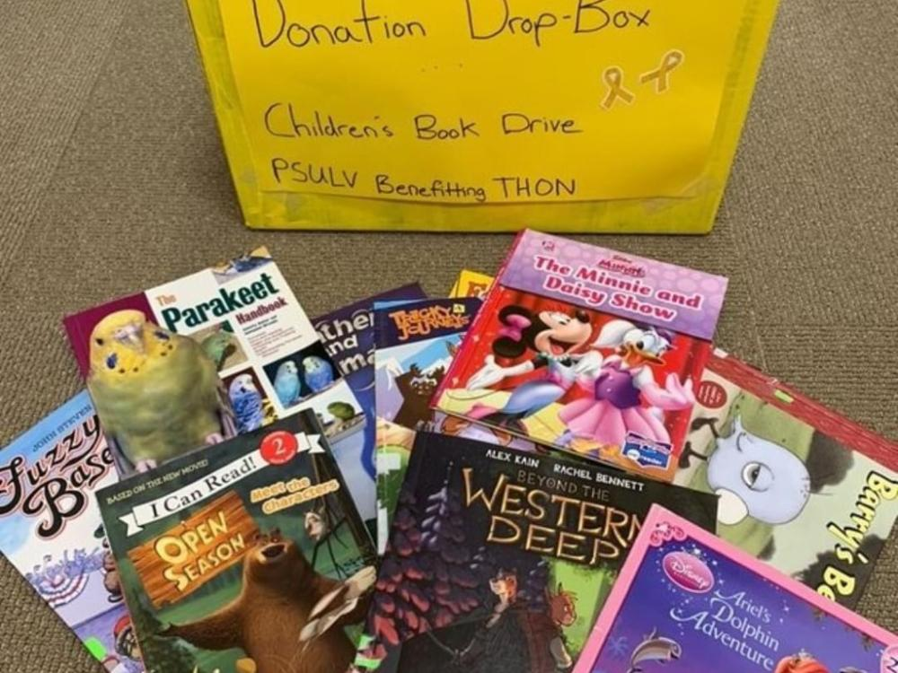 Donated children's books