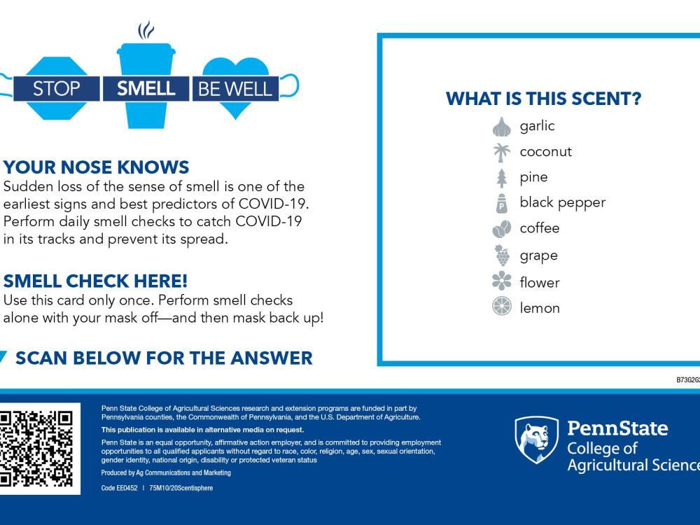 COVID smell check card