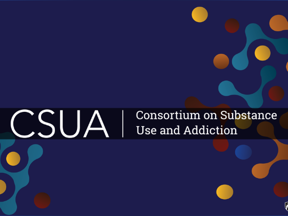 Colorful header that says CSUA | Consortium on Substance Use and Addiction.