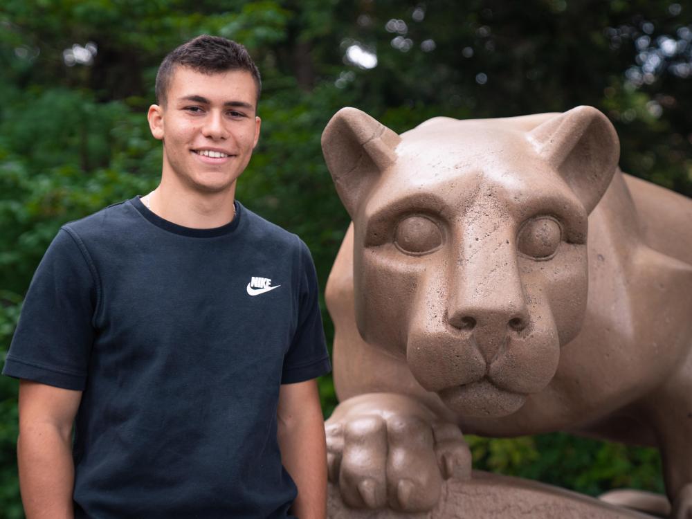 Ezra Gershanok at the Lion Shrine