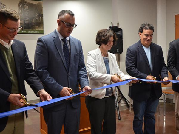 Penn Building ribbon cutting