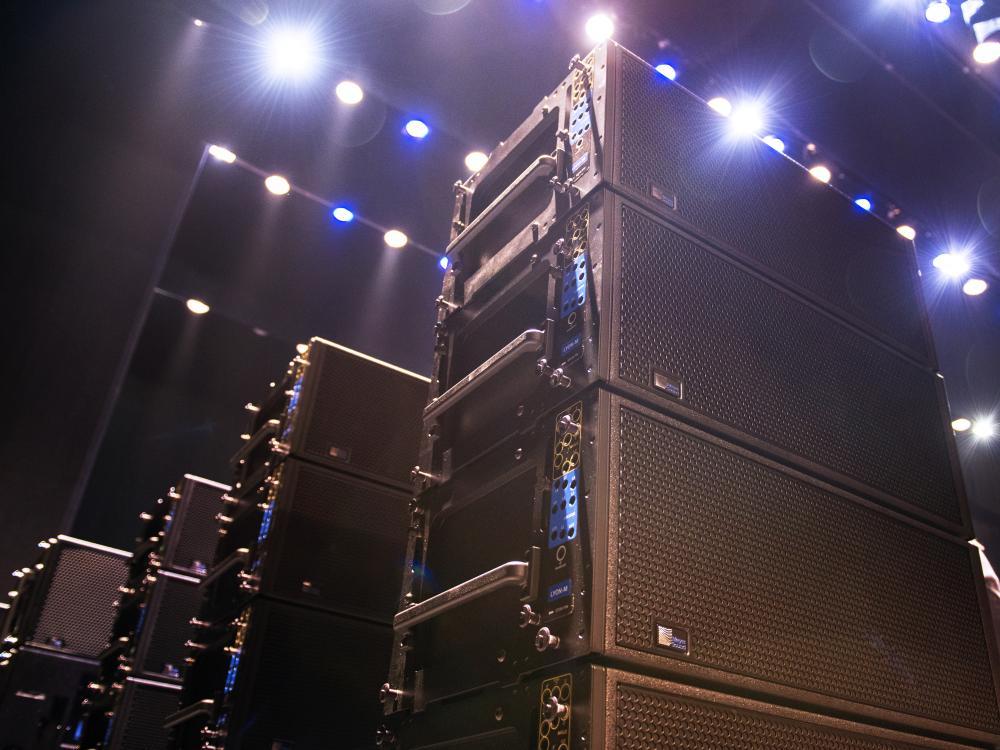 Eisenhower Auditorium speakers