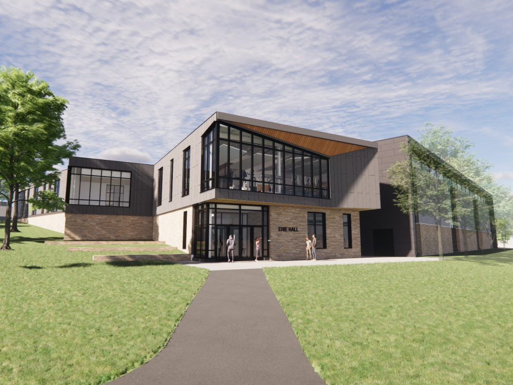 Architect's rendering of Erie Hall
