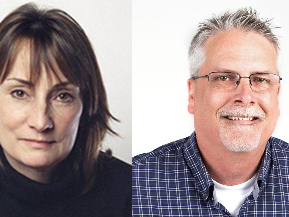 Headshots of Stephanie Saul and Jim Schaefer