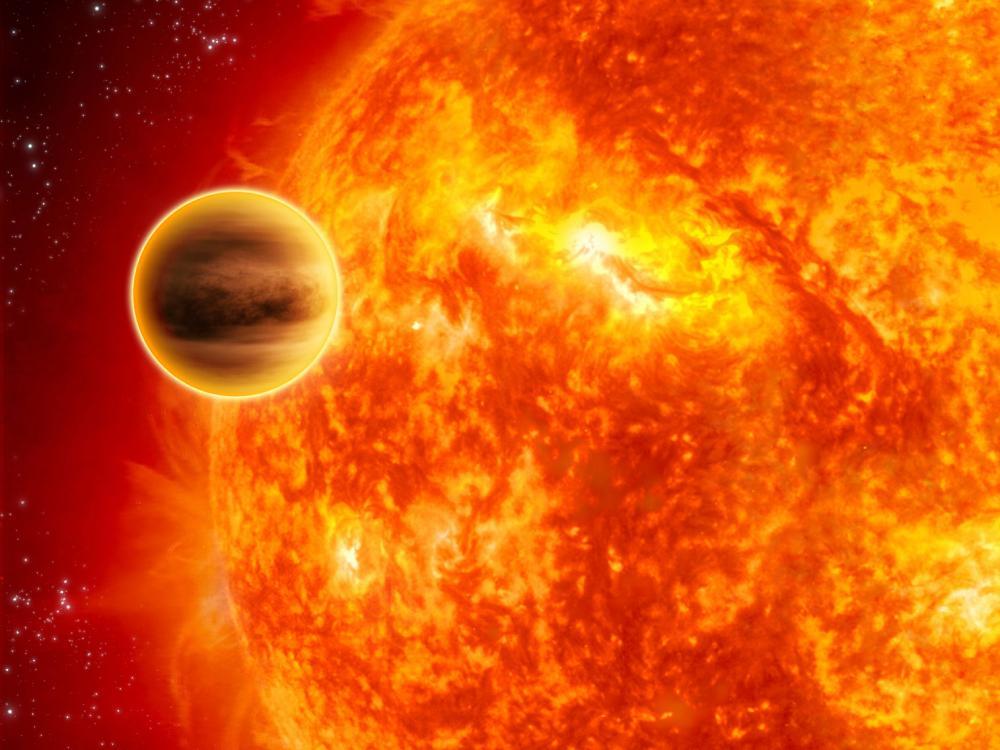 Jupiter-like planet next to large star