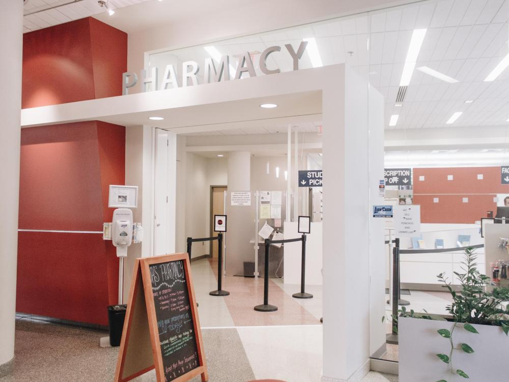 Picture of the UHS Pharmacy (pre-pandemic)
