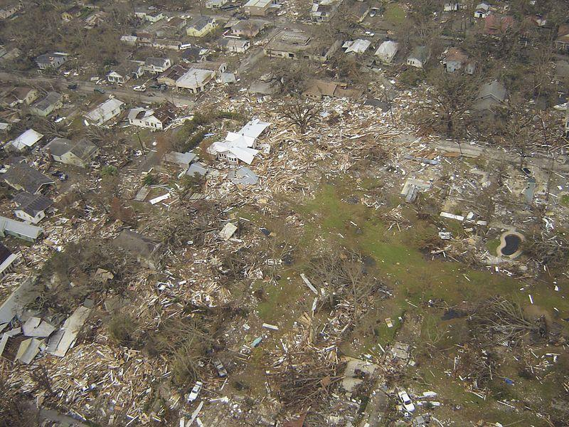 flooded, destroyed area of Pascagoula