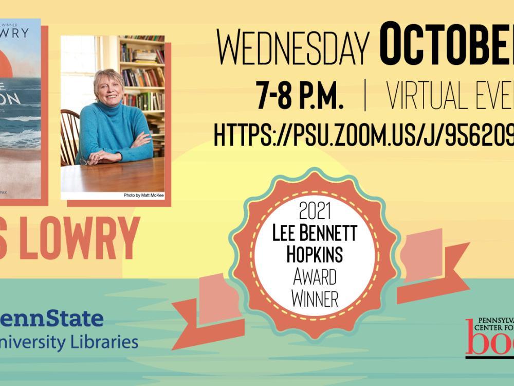 Lee Bennett Hopkins virtual event, Oct 20, 7 p.m. graphic