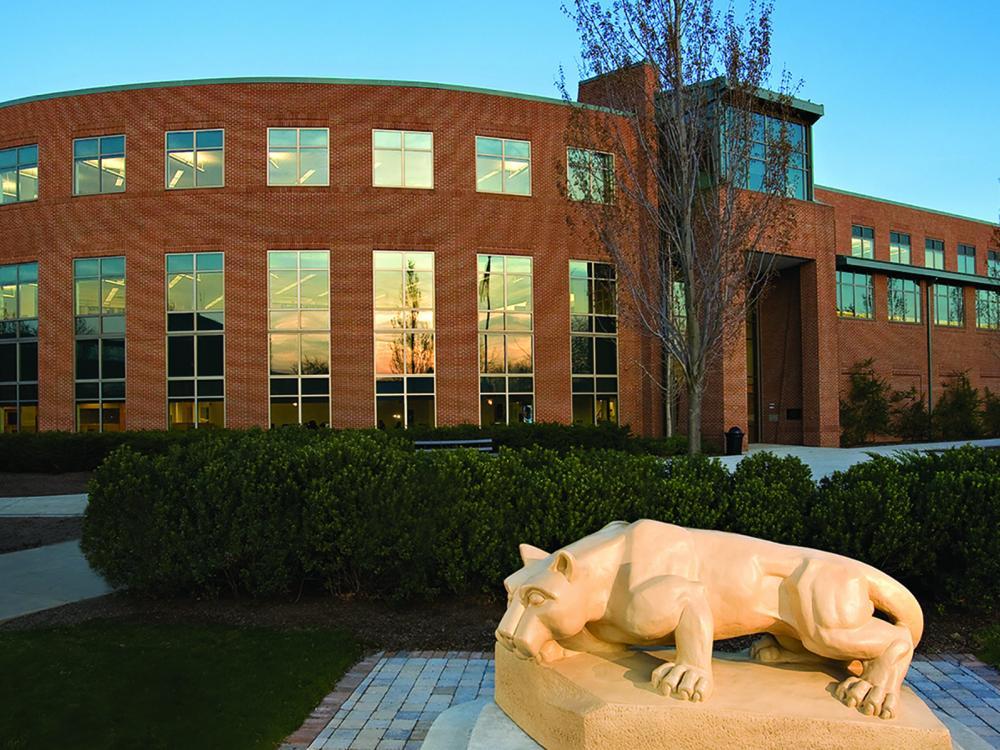 Penn State Harrisburg library and Lion Shrine