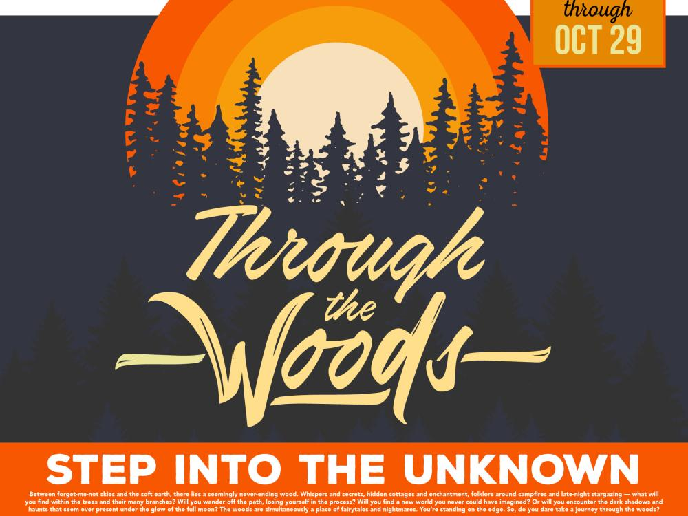 Through the Woods, contest graphic, Oct 4-29, 2021