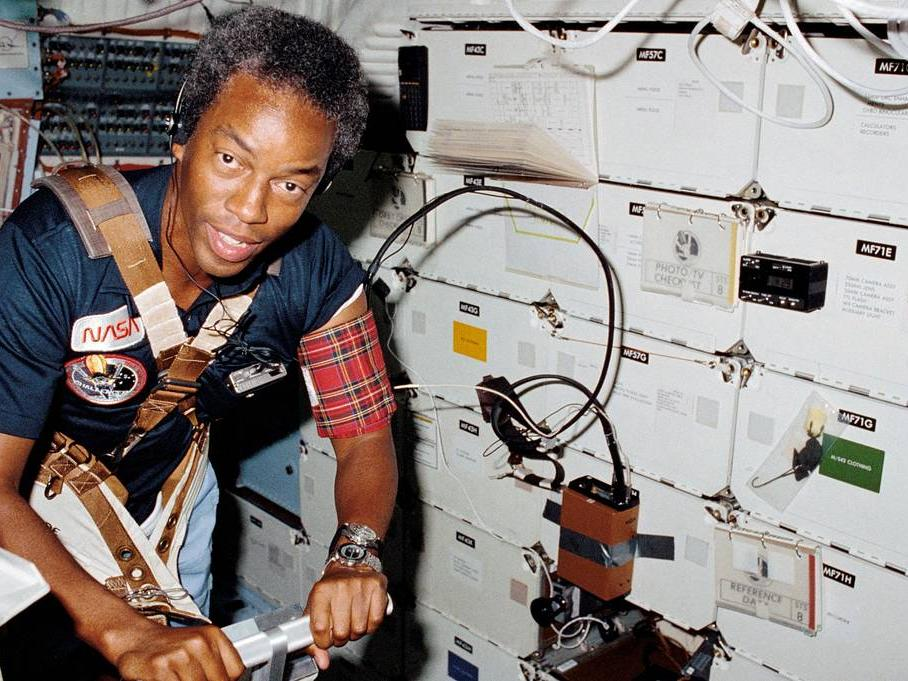 Guy Bluford aboard Space Shuttle Challenger
