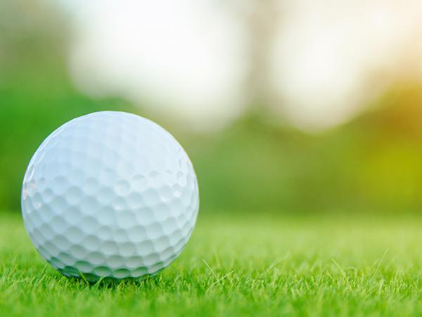 Golf ball in a field