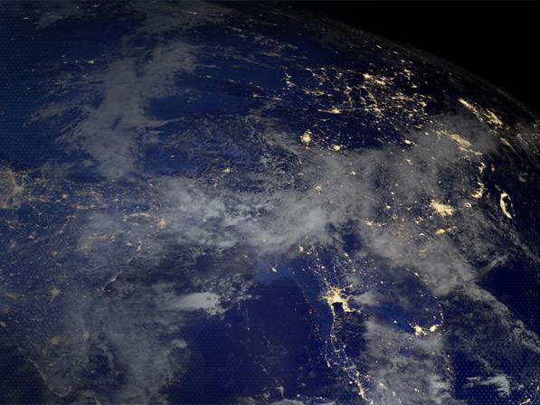 Satellite imagery of Earth