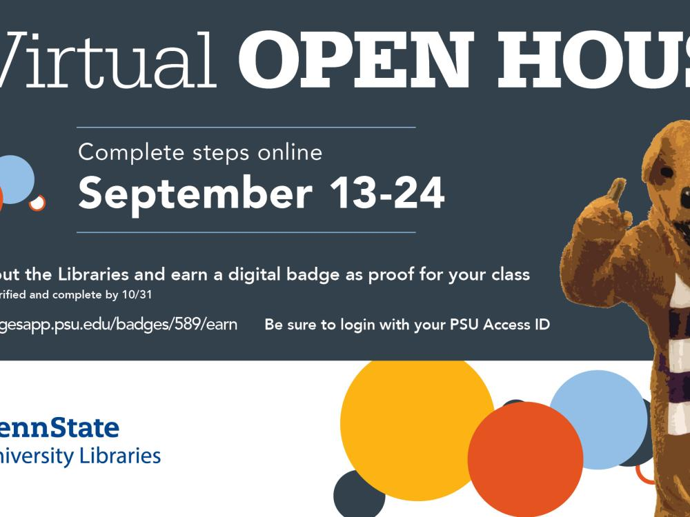 Libraries fall Open House graphic, fall 2021, sept 13-24