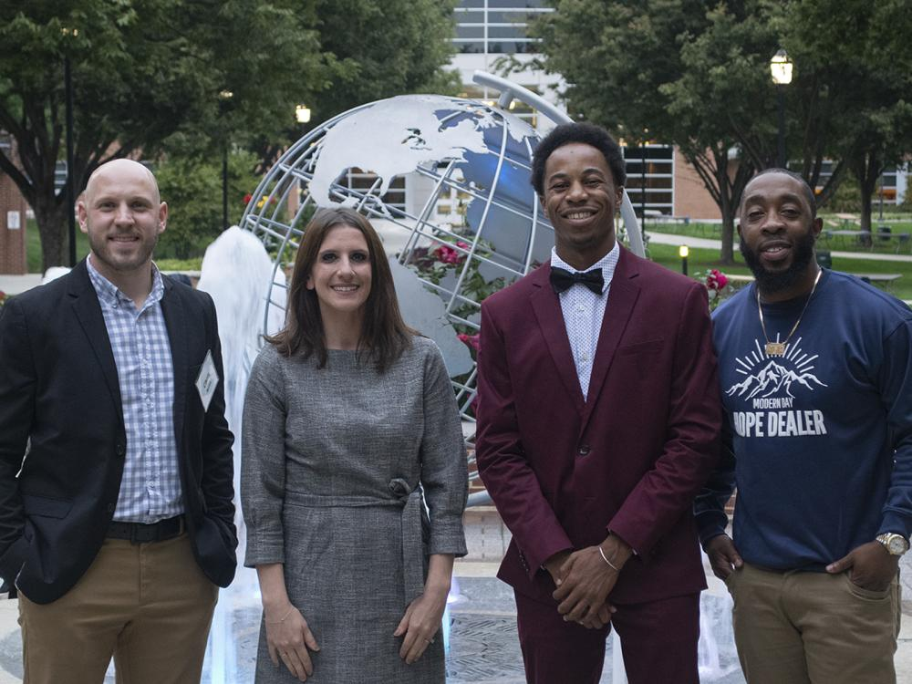 group photo of Christopher Spittle, Kathryn Peterson, Corey Dupree and Bryan Majors