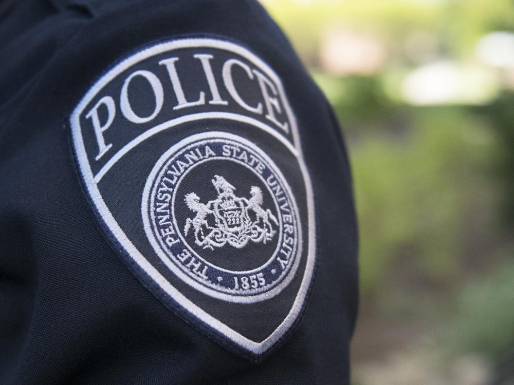 Police patch on uniform