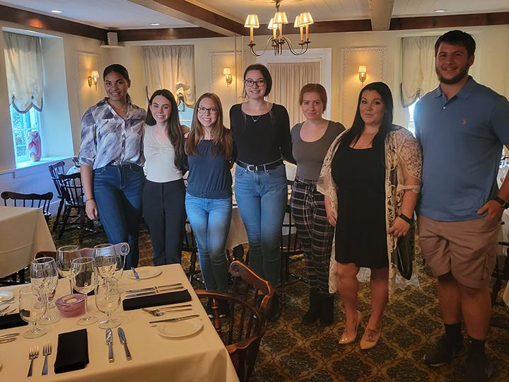 Penn State Berks students help with popup restaurant.