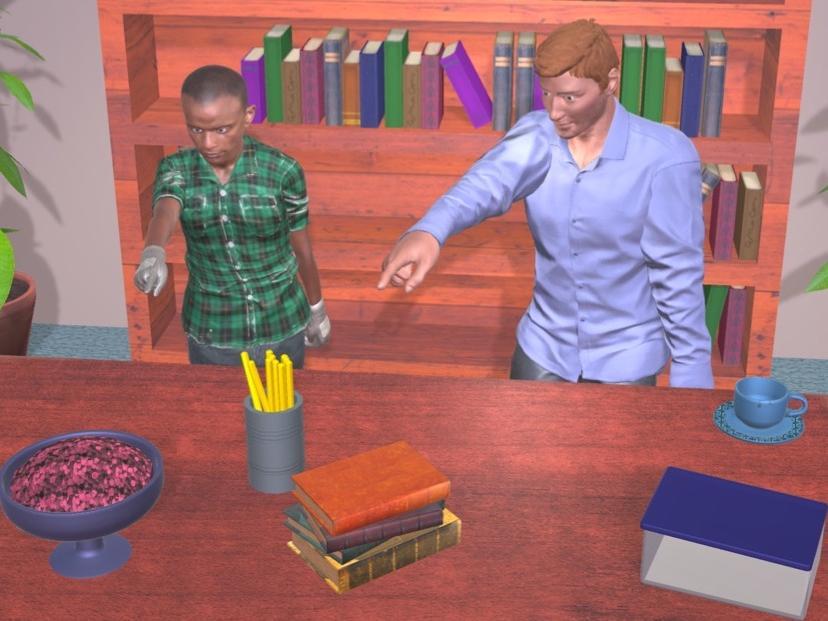 Interactive humanoids interact on SAGA game