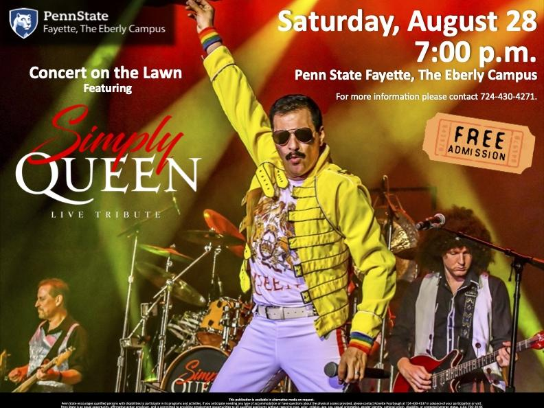 Simply Queen August 28 at 7:00 p.m.