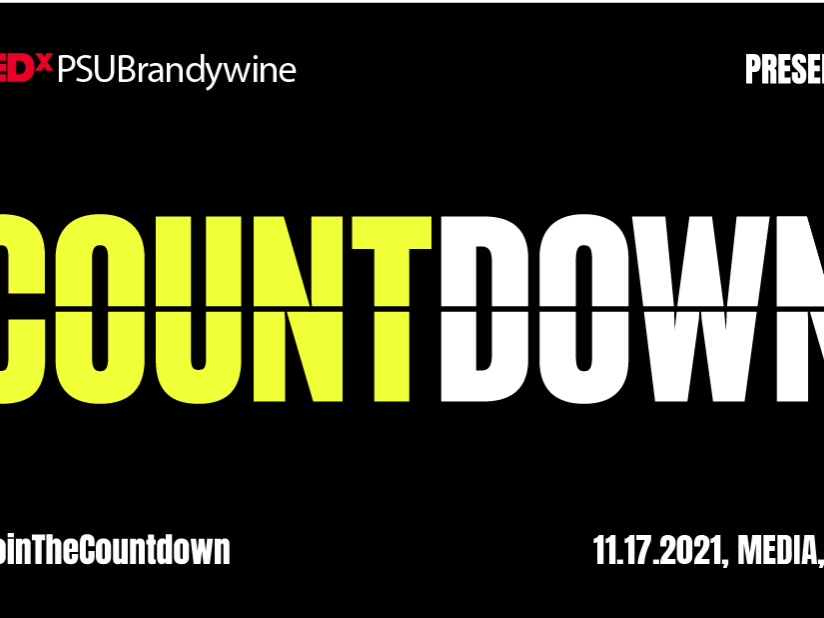An image promoting TEDxPSUBrandywine, which will be held on Wednesday, Nov 17.