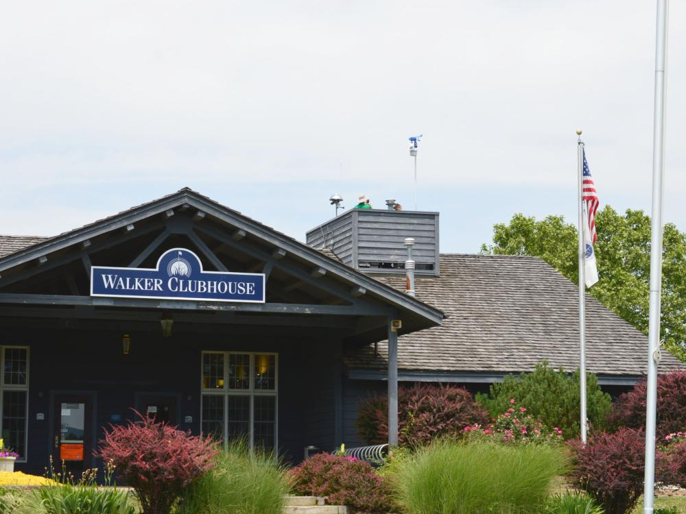 Walker Clubhouse with new WeatherSTEM station