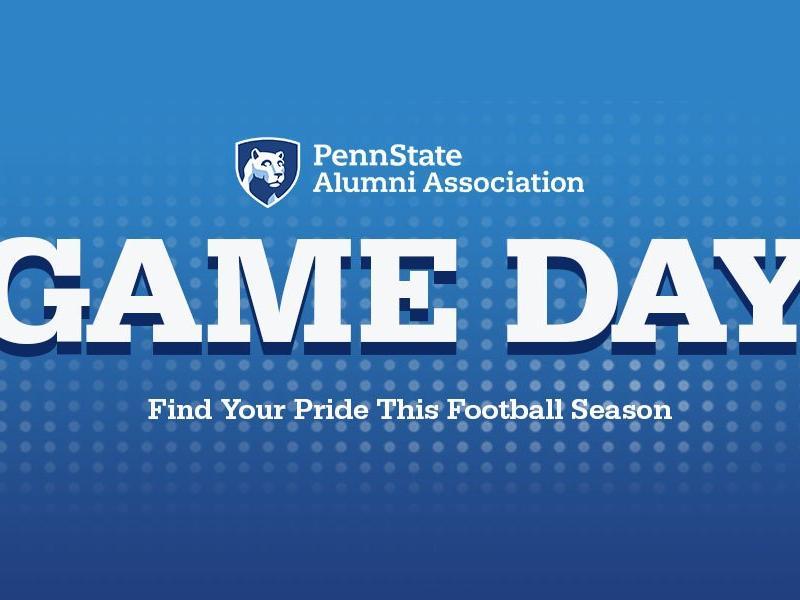 Alumni Association game day graphic