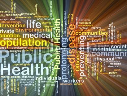 Population health word cloud illustration