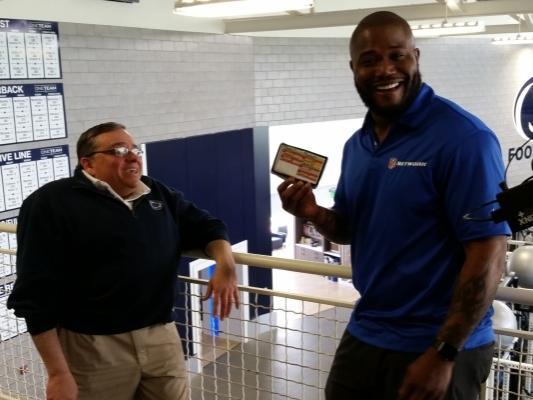 Robinson visits Penn State