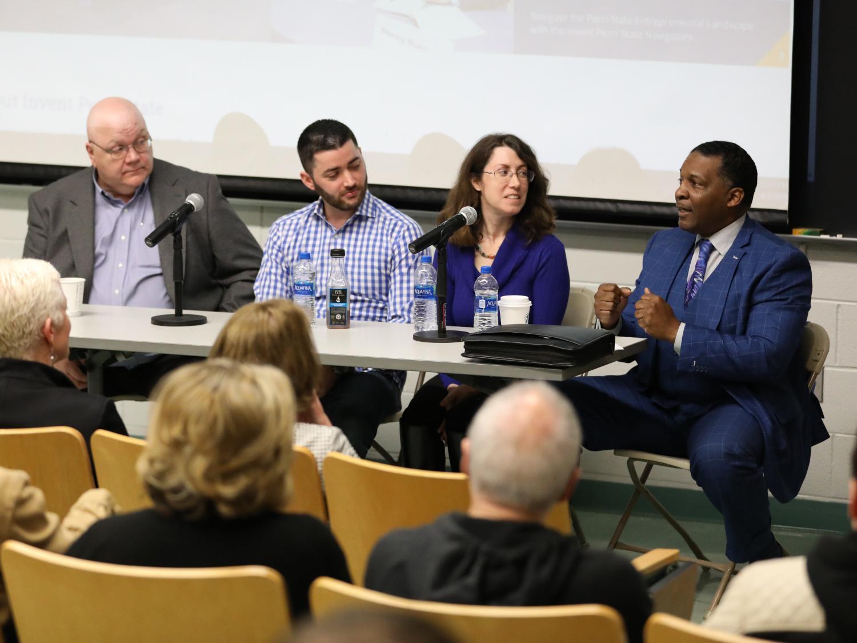 Entrepreneurs speak to students at Brandywine
