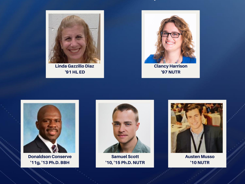 Top row: Linda Gazzillo Diaz and Clancy Harrison. Bottom row: Donaldson F. Conserve, Samuel Scott and Austen Musso.