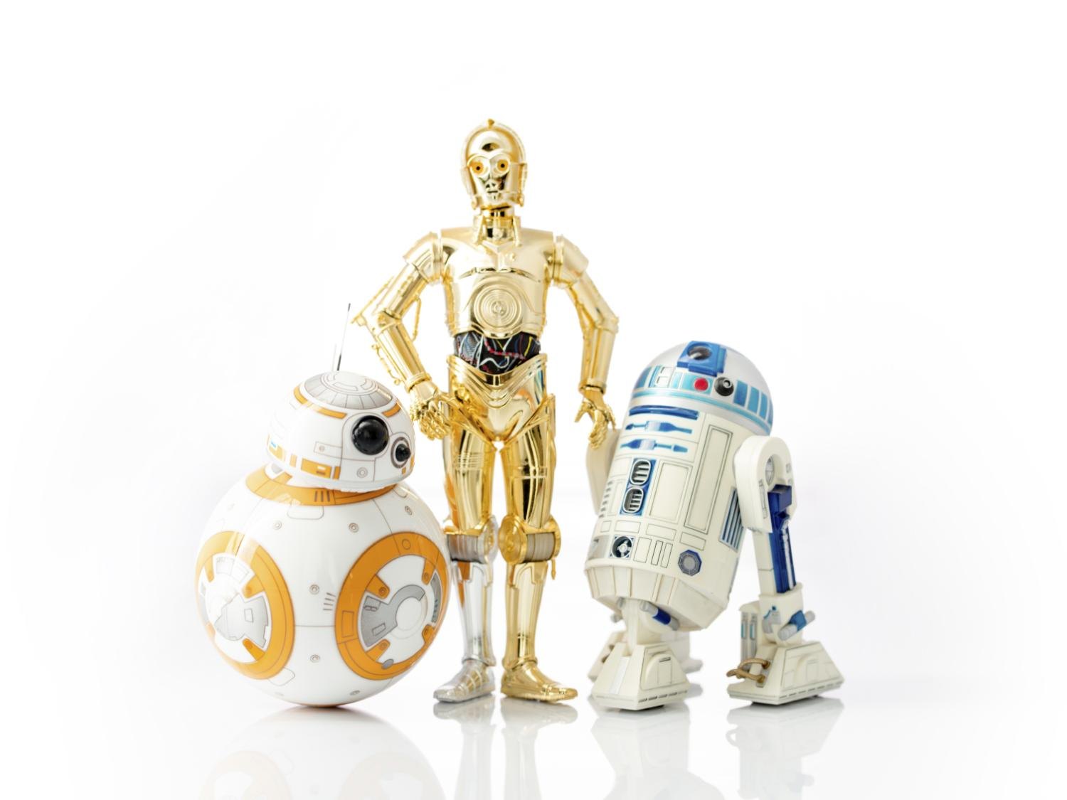 BB8, R2D2 and CP3O