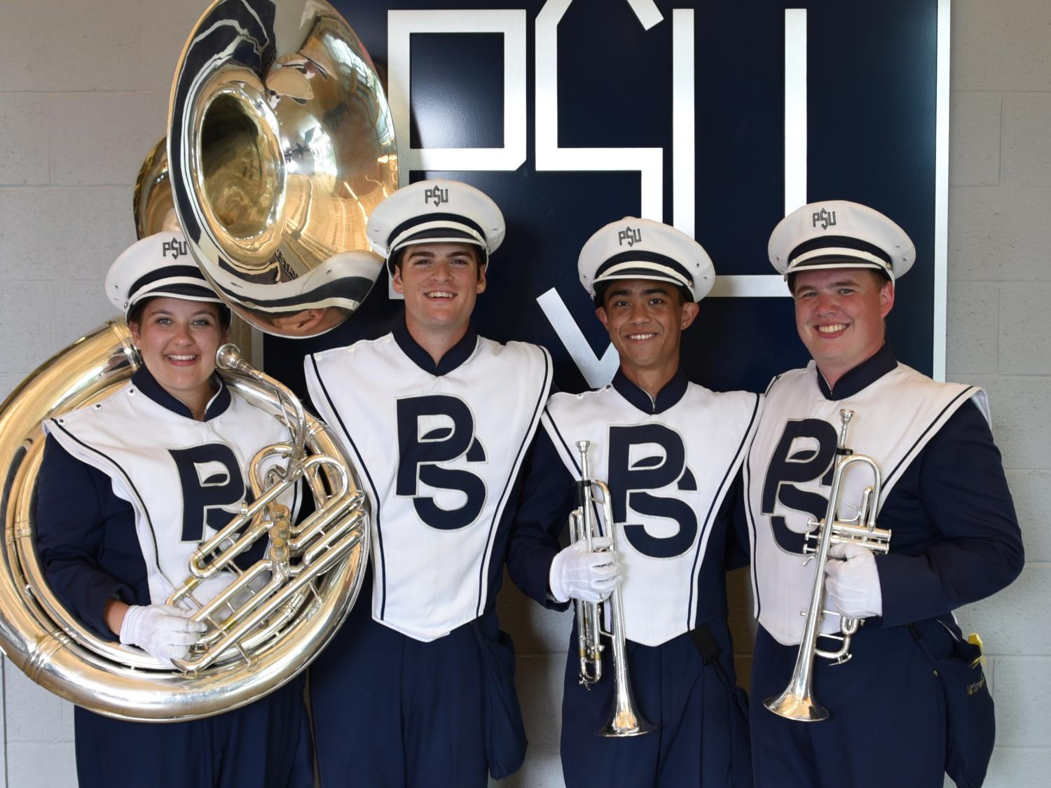 IST students in the Blue Band