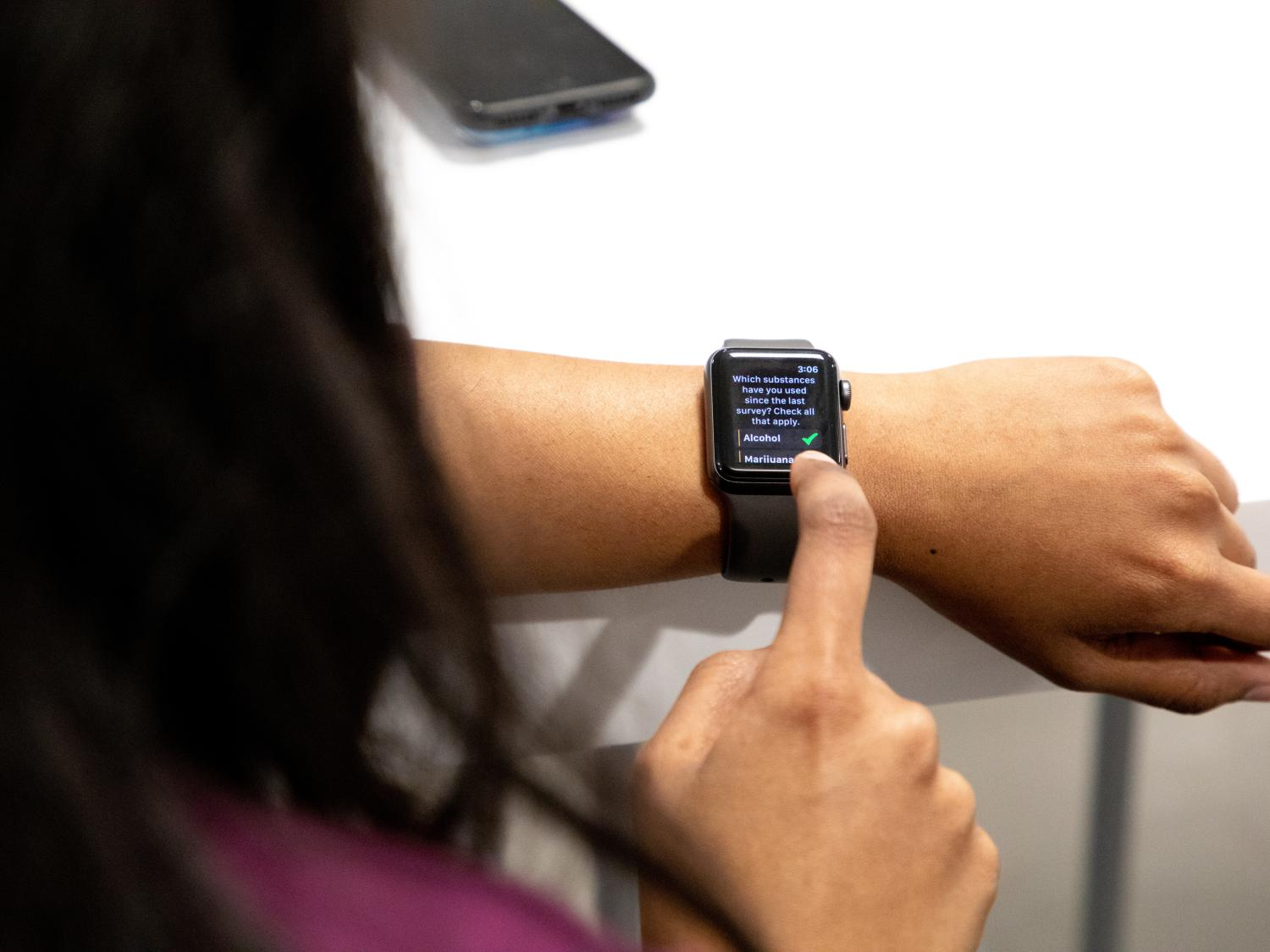 Apple Watch substance co-use