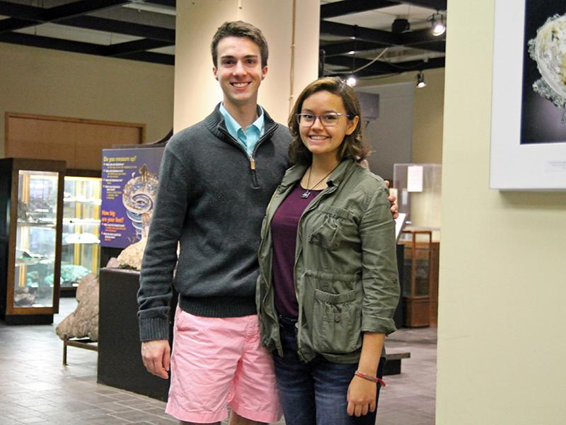 First-year students Brian Swab; mining engineering; and Ana Isabel De La Fuente Duran; materials science; are the College of Earth and Mineral Sciences' first Millennium Scholars