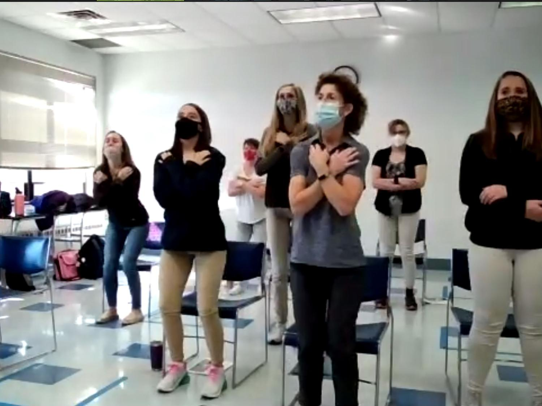 OTA students present fall prevention through Zoom.