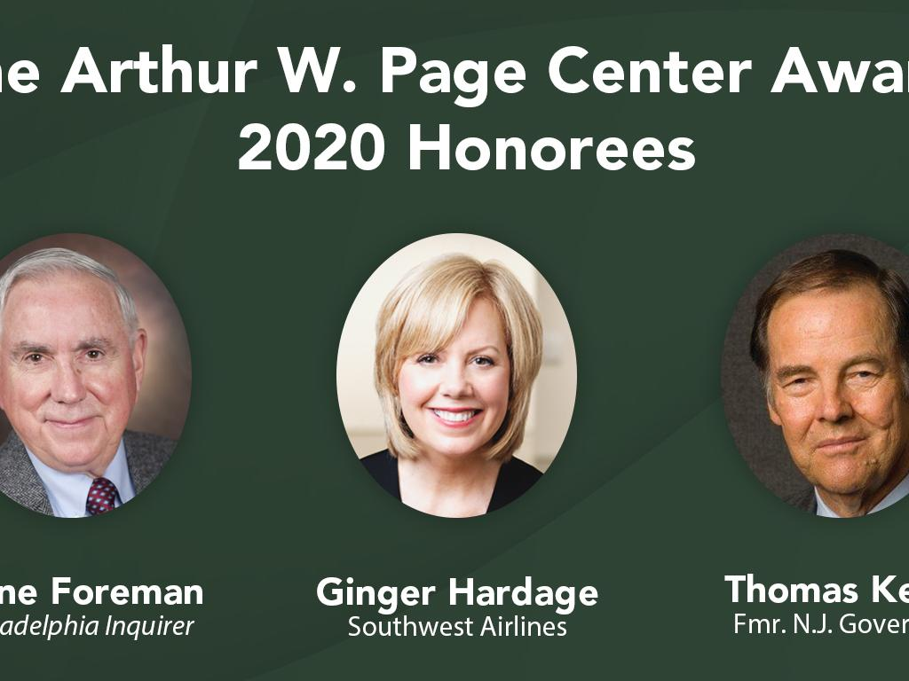 2020 Page Center Awards