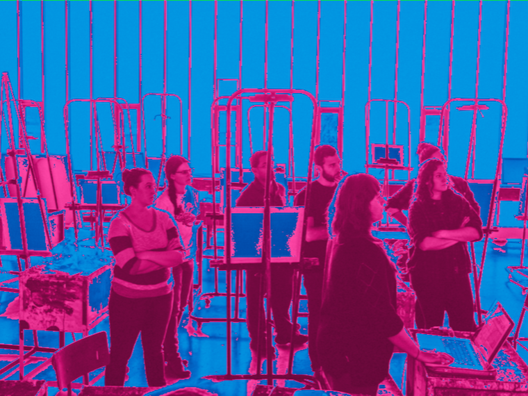 Students in a studio