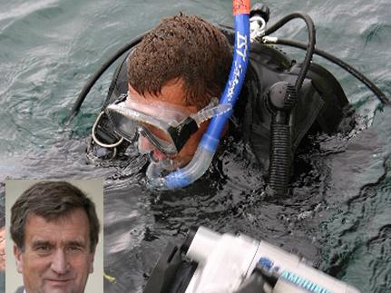 diving with inset