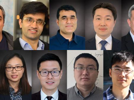 A compilation image of nine headshots, one of each of the new faculty hires in EECS