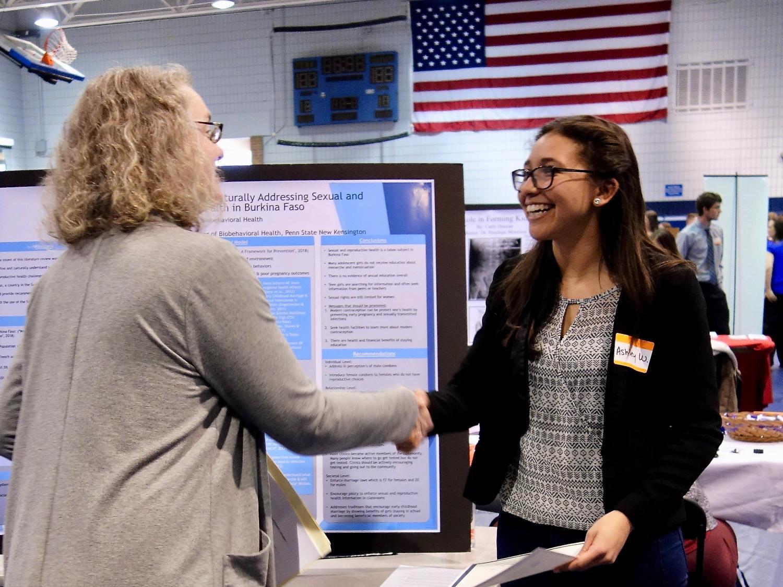 Spring 2018 University Libraries Undergraduate Research Award recipient at Penn State New Kensington